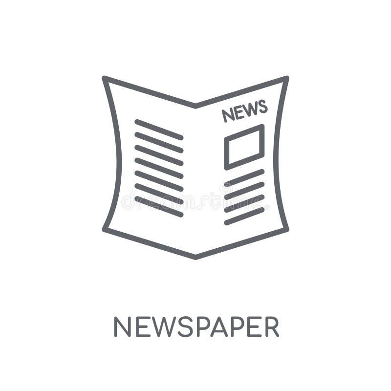 Gazetowa liniowa ikona Nowożytnego konturu logo Gazetowy pojęcie dalej royalty ilustracja