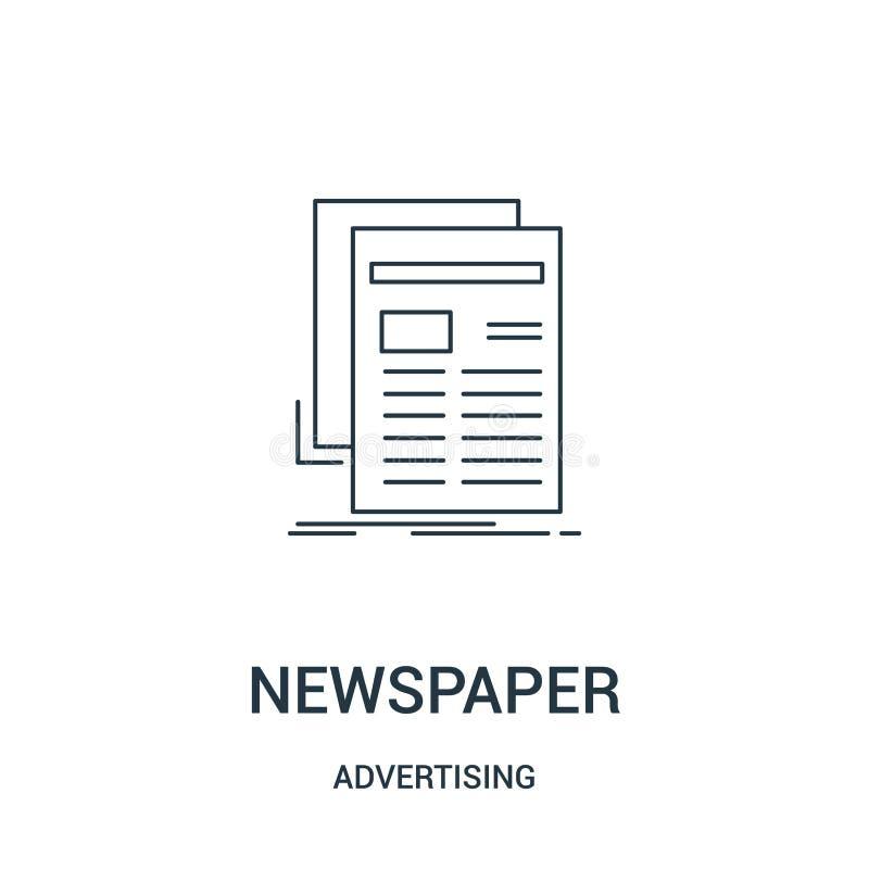 gazetowy ikona wektor od reklamowej kolekcji Cienka kreskowa gazetowa kontur ikony wektoru ilustracja Liniowy symbol dla używa da ilustracji
