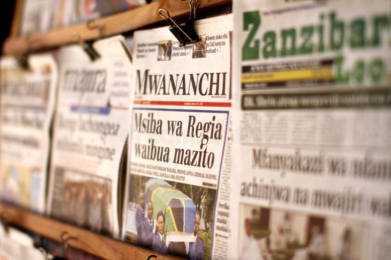 Gazetowy stojak w Zanzibar obrazy stock
