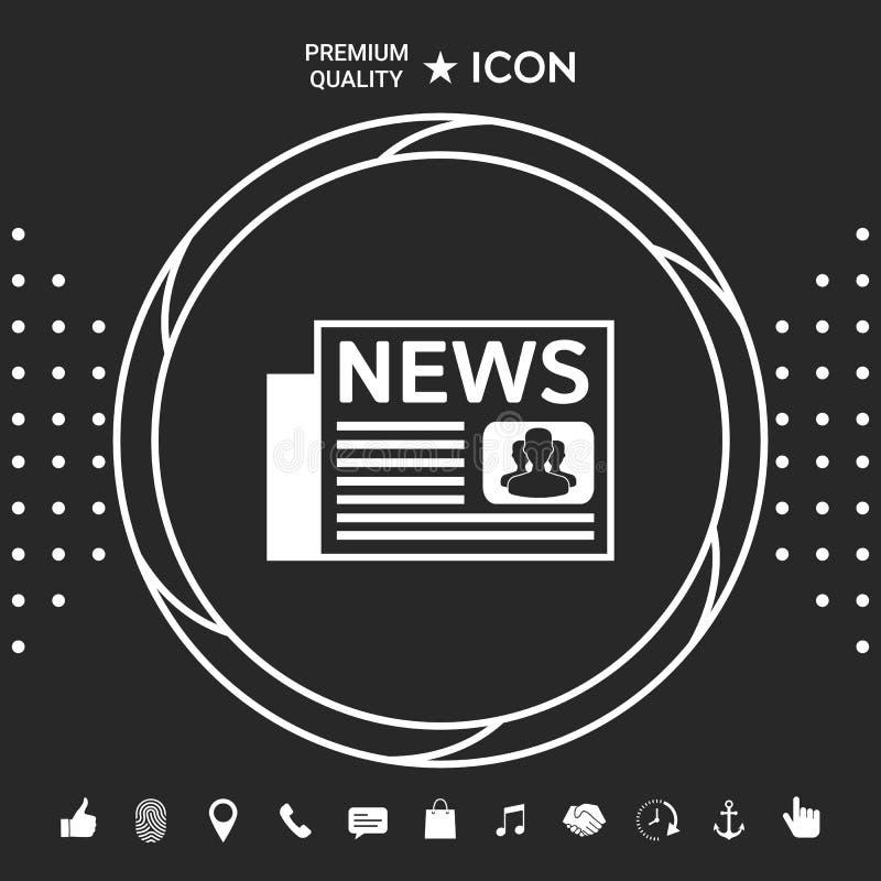 Gazety ikony symbol Graficzni elementy dla twój designt royalty ilustracja