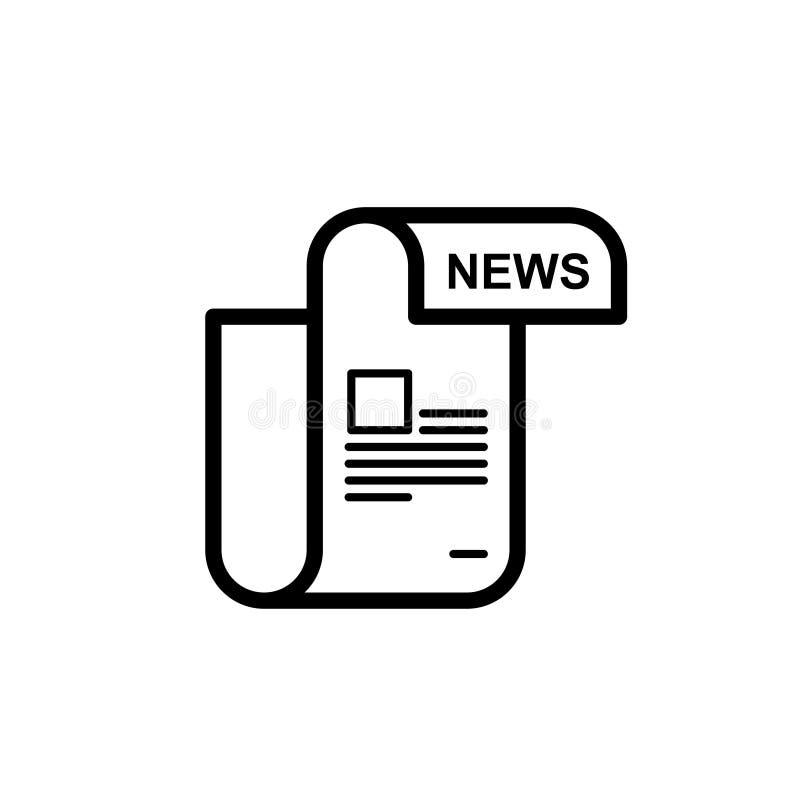 Gazety kreskowa ikona liniowy piktogram odizolowywający na białym tle ilustracja wektor