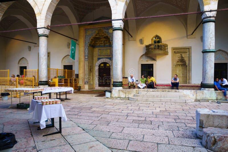 Gazi Husrev-tigger moskén, Sarajevo royaltyfria bilder