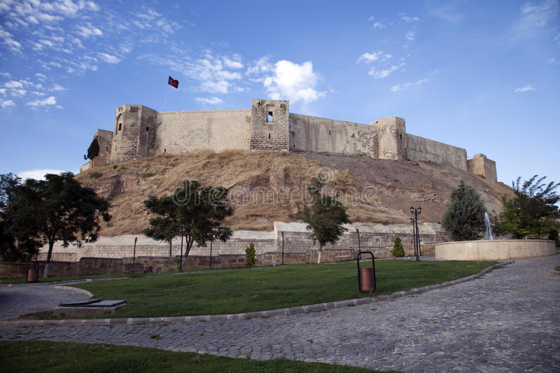 Gaziantep Castle in Turkey stock photography