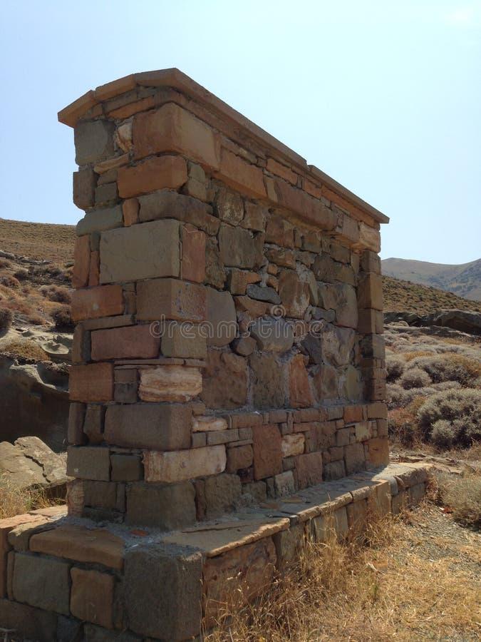 Gaziantep in de baksteeninschrijvingen van Turkije, geen informatie meer dan honderden jaren stock foto