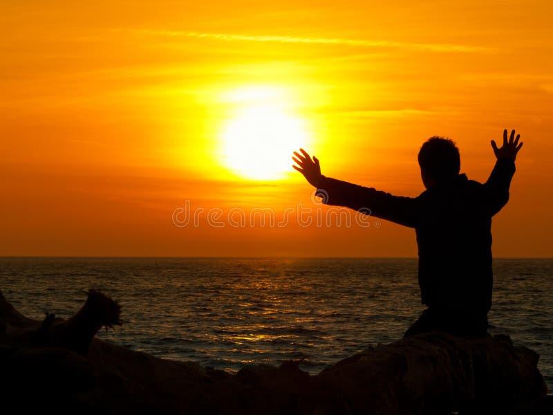 gazing солнце стоковые изображения rf