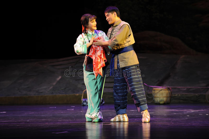 Gazing into each other- Jiangxi opera a steelyard. Jiangxi opera a steelyard is adapted from a true story: the last century fortys, the protagonists father runs stock images