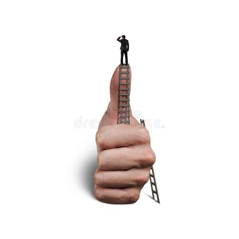 Gazing na górze большого пальца руки стоковое изображение