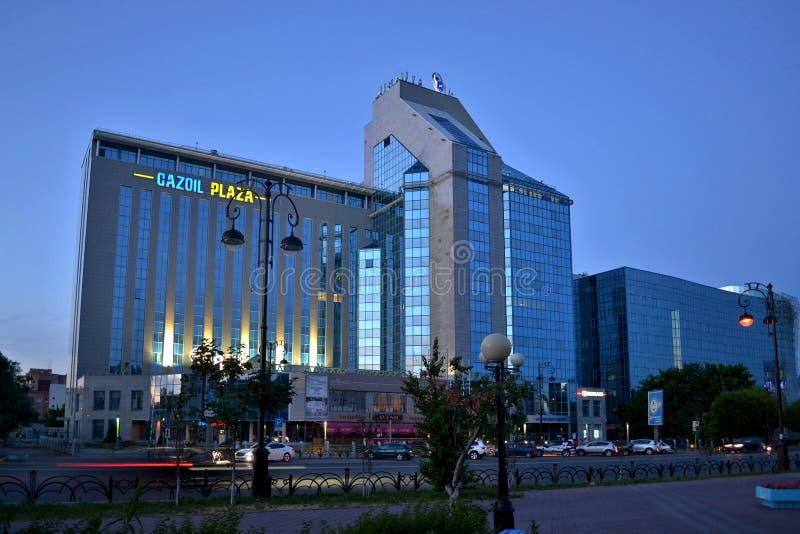GAZOIL广场。秋明州。俄罗斯。 免版税库存图片