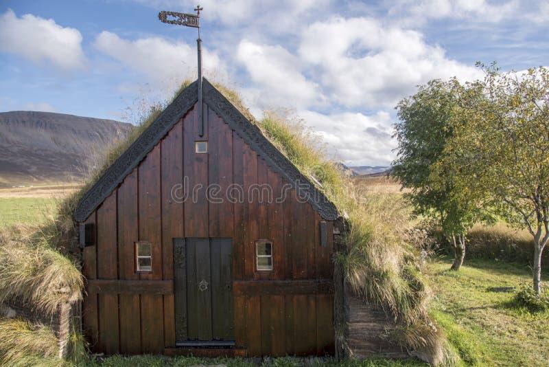 Gazon-église de Grafarkirkja, Islande du nord 3 photos libres de droits