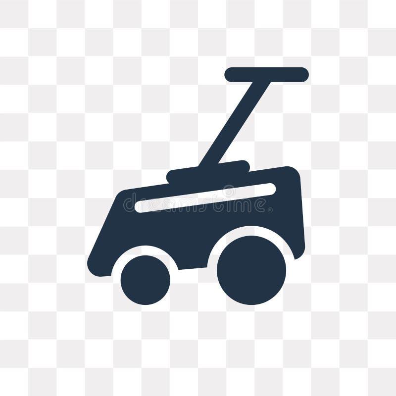 Gazonu kosiarza wektorowa ikona odizolowywająca na przejrzystym tle, gazon ilustracja wektor