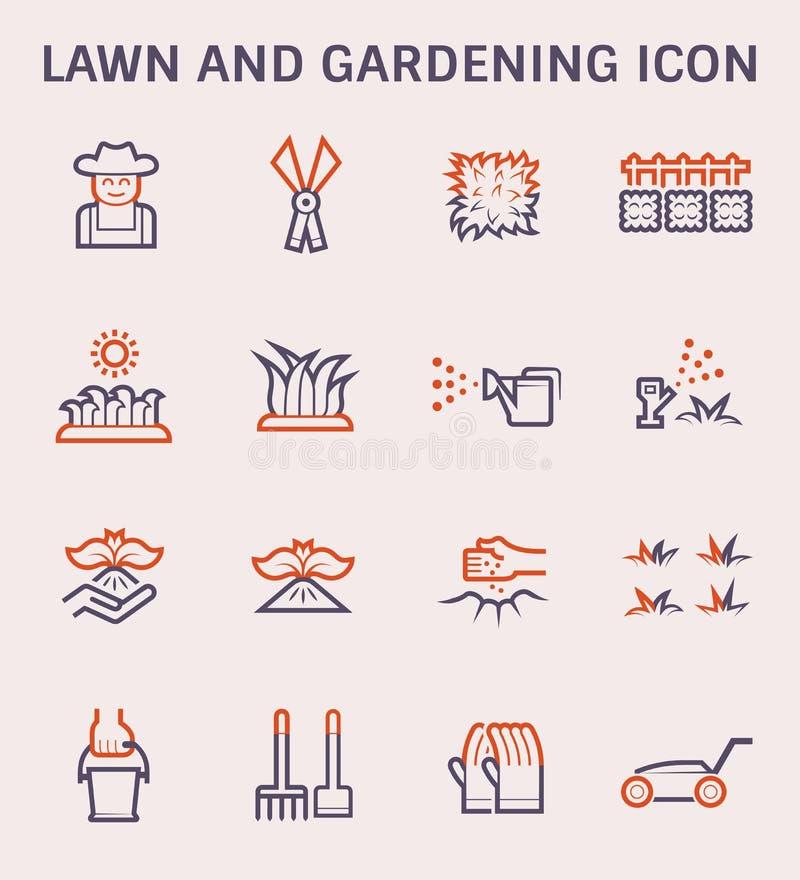 Gazonu ogrodnictwa ikona ilustracji