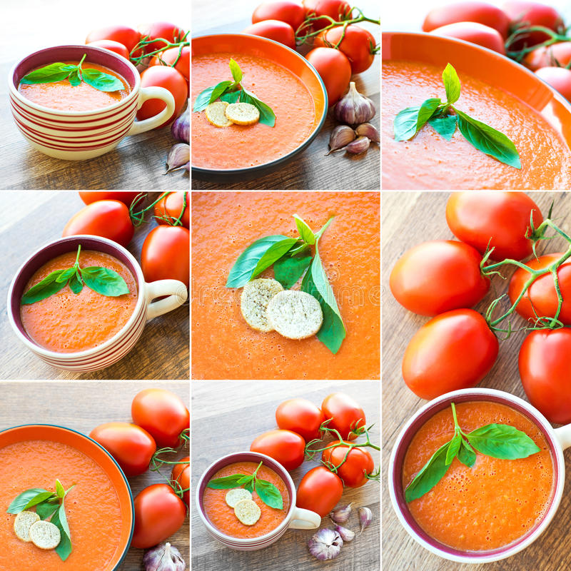 gazpacho fotografie stock libere da diritti