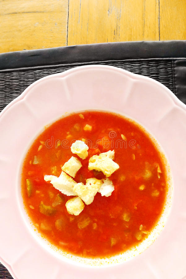Gazpacho cold vegetables soup royalty free stock image