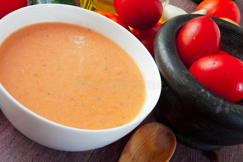 Gazpacho soup stock images