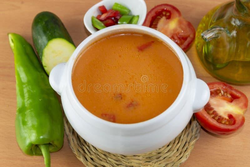 Gazpacho. Spanish style soup stock photos