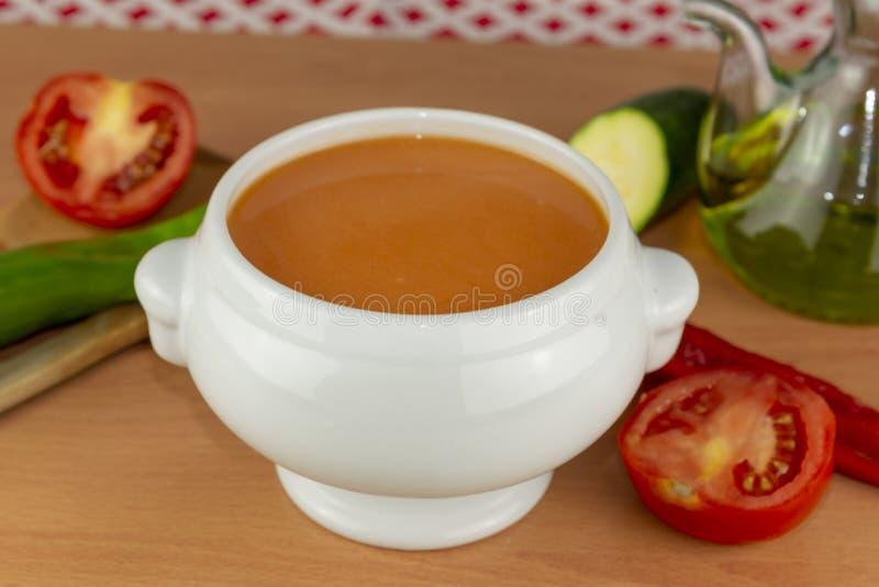 Gazpacho. Spanish style soup royalty free stock photos