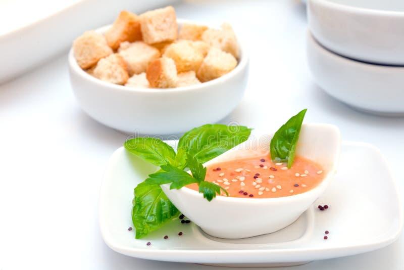 Gazpacho tomato soup stock images