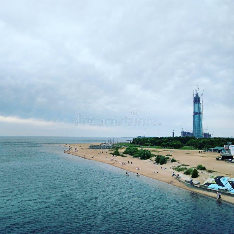 Gazprom centrum obrazy royalty free