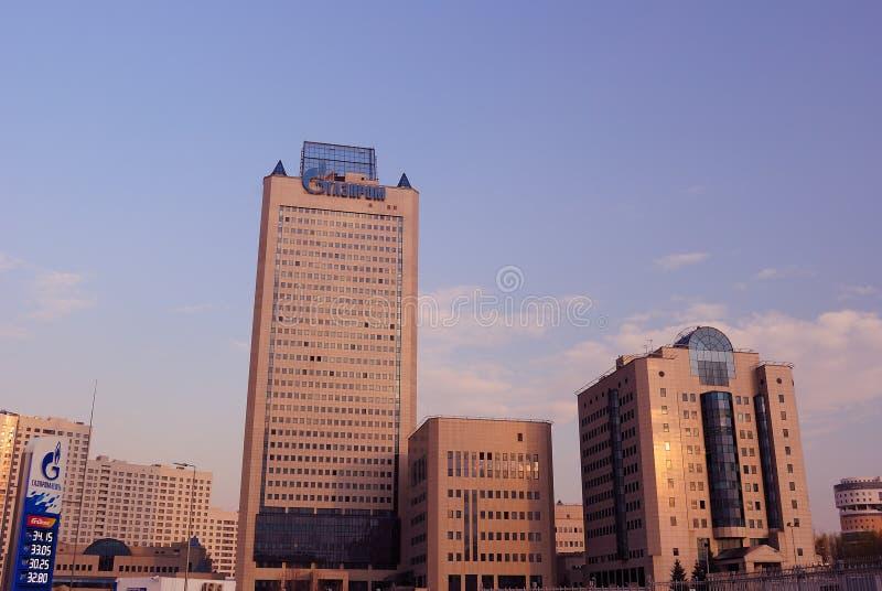 Gazprom huvudkontor i Moscow arkivfoton