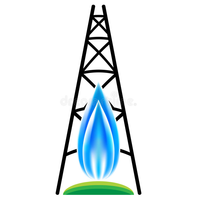 Gazu Naturalnego Fracking ikona ilustracji