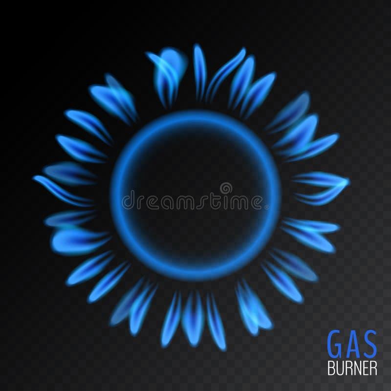 Gazu naturalnego round błękitny płomień ilustracji