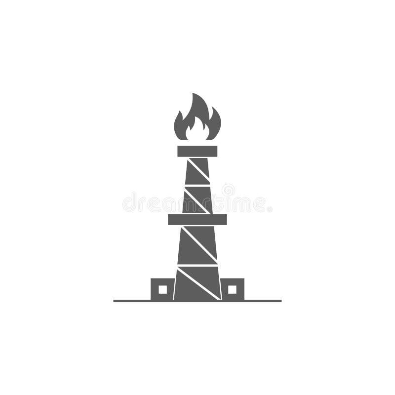 gazu naturalnego zakładu przetwórczego ikona Element ropa i gaz ikona Premii ilości graficznego projekta ikona znaki i symbole in ilustracja wektor