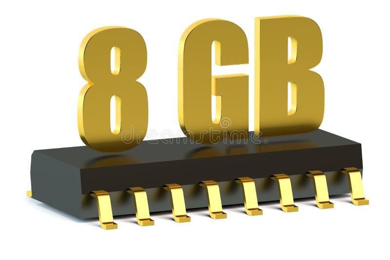 8 Gb RAM, ROM kości pamięci dla lub royalty ilustracja