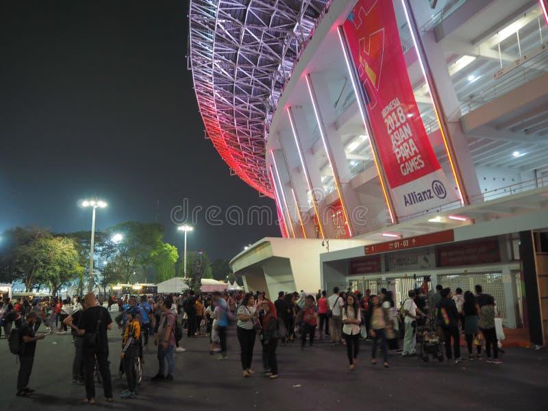GBK-sportar som är komplexa i Senayan royaltyfri fotografi