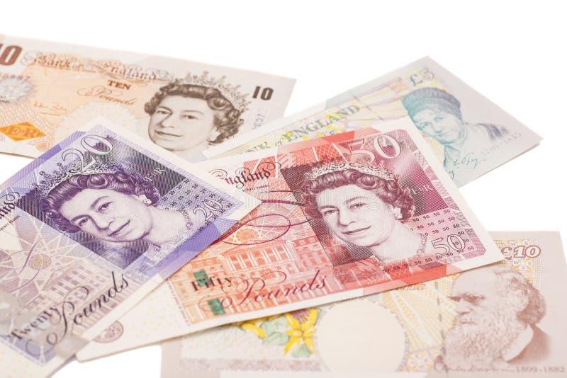 GBP de livres sterling britanniques d'argent images libres de droits