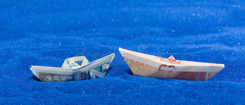 GBP EU-valuta arkivfoton