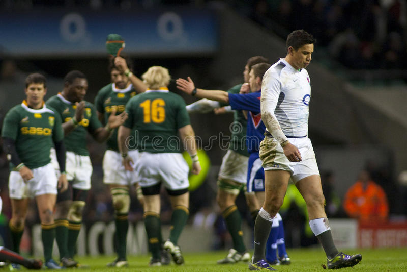 GBR橄榄球联合英国对南非 免版税图库摄影