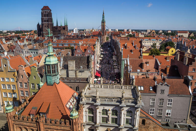 Gdańska miasto panorama fotografia stock