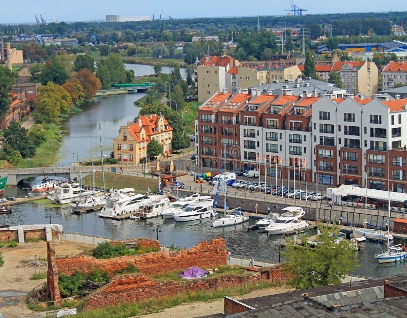 Gdańska panorama obrazy royalty free