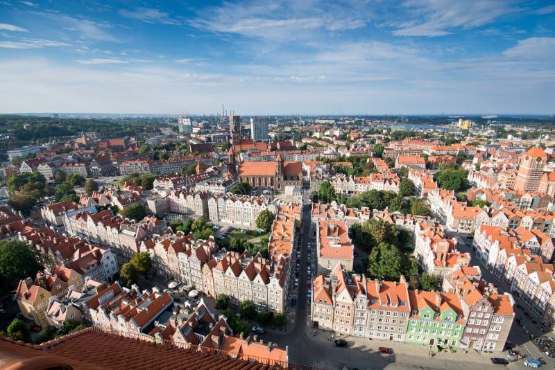 Gdańska panorama obraz stock
