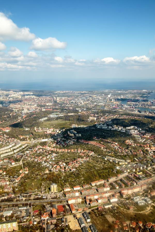 Gdański miasto panoramy widok obraz stock