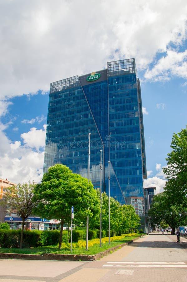 Gdański, Polska, Czerwiec - 14, 2017: Neptunu Biznesowy Centre w Gdańskim Wrzeszcz fotografia stock