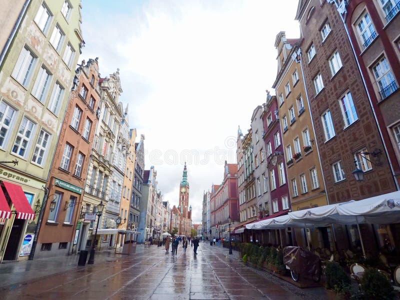 Gdański - Polski miasto na Bałtyckim wybrzeżu zdjęcia royalty free