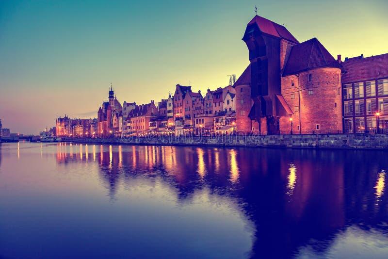 Gdansk. Old Crane in Gdansk, Poland royalty free stock images
