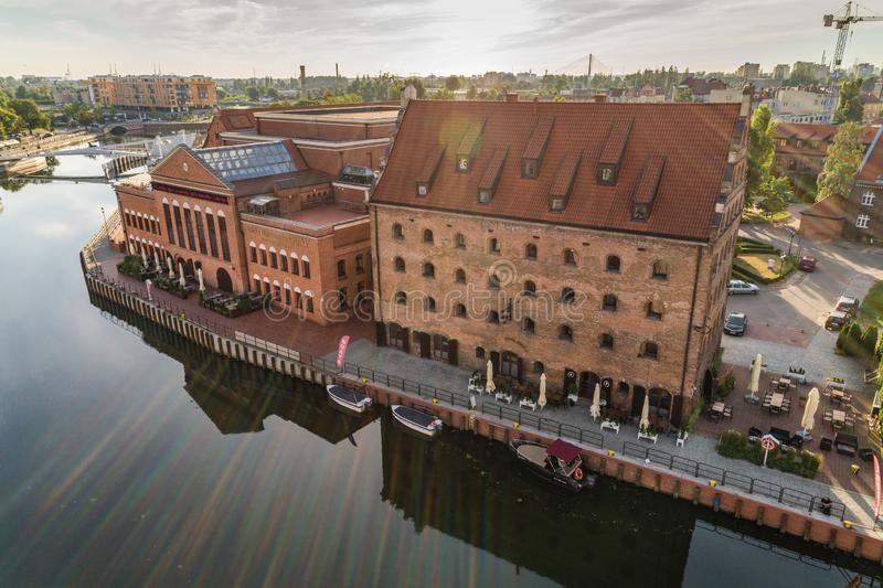 Gdansk aerial view stock photos