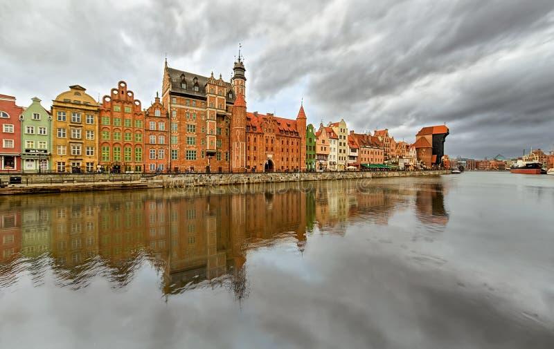 Gdansk, cais da cidade central imagem de stock royalty free