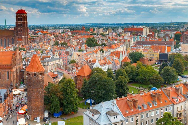 gdansk Cidade velha imagens de stock royalty free