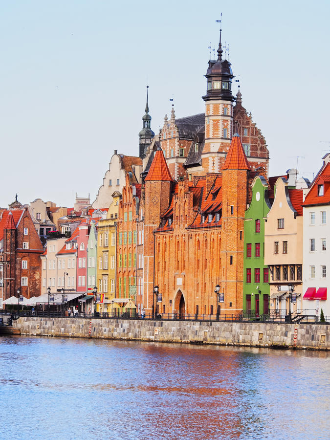 Gdansk Cityscape And Moltawa River In Poland Editorial Stock Photo