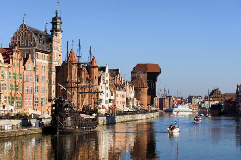 Gdansk em Poland fotos de stock royalty free