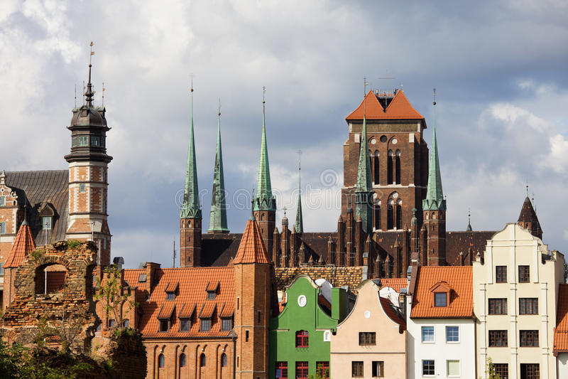 gdansk gammal town royaltyfri bild