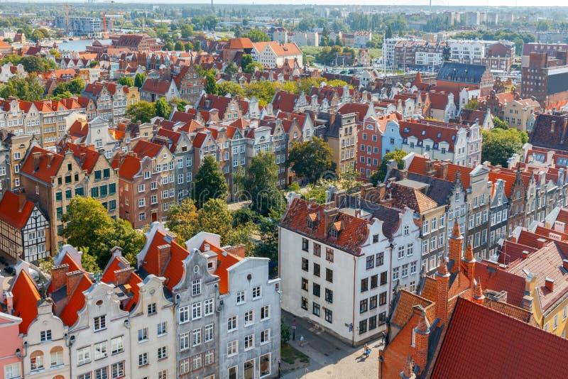 gdansk gdansk Vista aérea da cidade fotos de stock