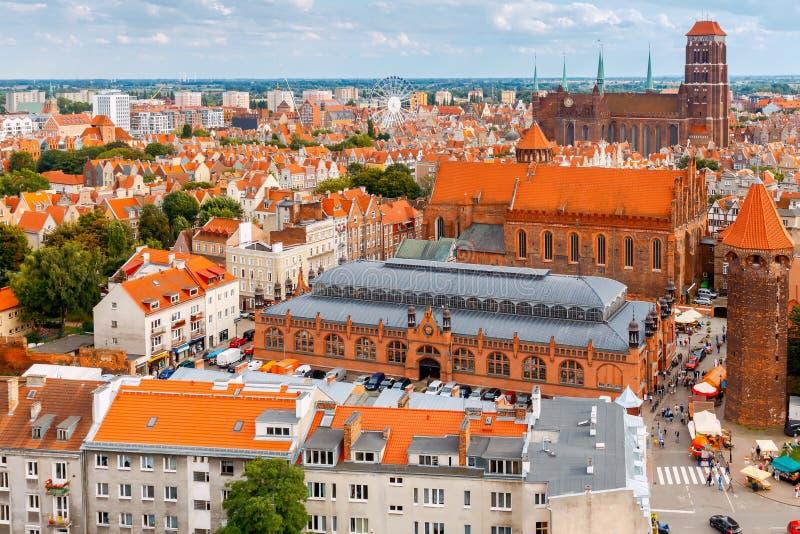 gdansk gdansk Vista aérea da cidade foto de stock royalty free