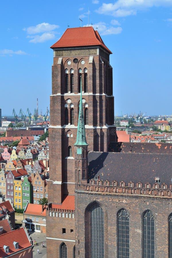 gdansk Iglesia de St Mary fotografía de archivo