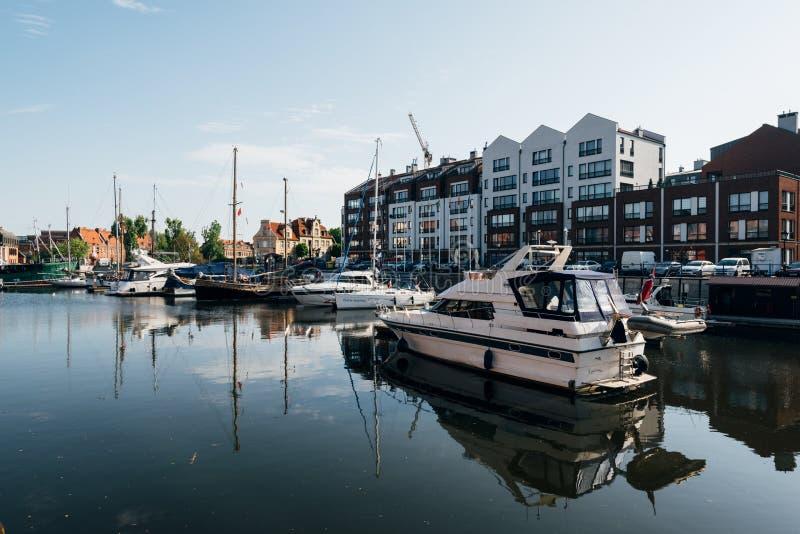 Gdansk-Jachthafen, Polen stockfotos