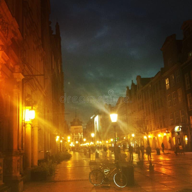 Gdansk-Lichter lizenzfreie stockbilder
