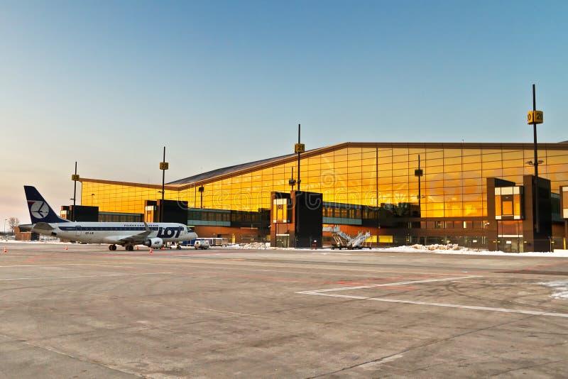 gdansk lotniskowy lech Walesa zdjęcie royalty free